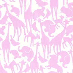 Oh Baby-Girl Animal Silhouettes Pink