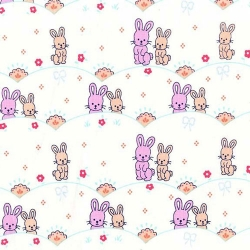 Oh Baby-Girl Bunny Scallop Pink