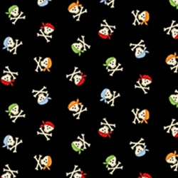 Pirates Small Crossbones Black