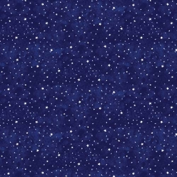 Blast Off Stars Dark Blue