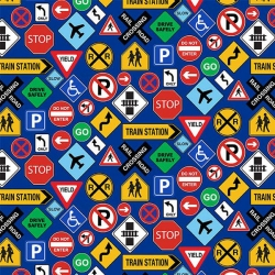 Connector Playmats Road Signs Blue