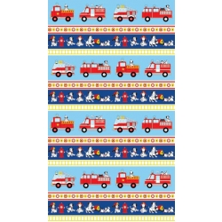 Dalmatian Rescue Fire Trucks Stripe