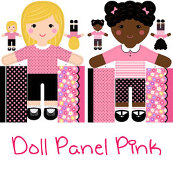 Girls of the World Doll Panel Pink