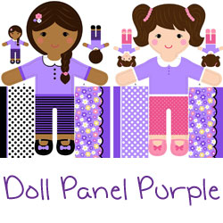 Girls of the World Doll Panel Purple