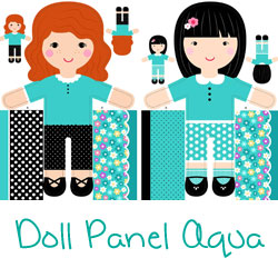 Girls of the World Doll Panel Aqua
