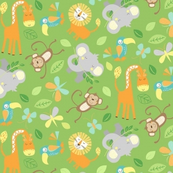 Jungle Friends Animals Green