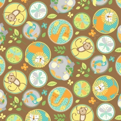 Jungle Friends Animal Circles Brown