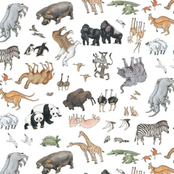 Noah's Ark Animals White