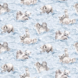 Polar Frost Flannel Polar Bear