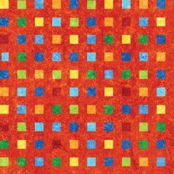 Stonehenge Rainbow Coordinates Squares on Red
