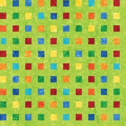 Stonehenge Rainbow Coordinates Squares on Green