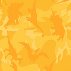 Dinosaur Train Silhouettes on Gold