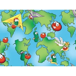 Veggie Tales How in the World Map