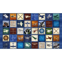 Aviator Blocks Panel Royal Blue