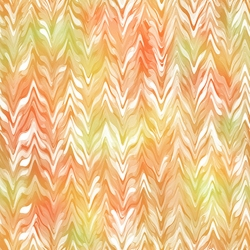 Belle Watercolor Chevron Orange