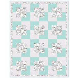 Cat Fish Town Square Quilt Kit