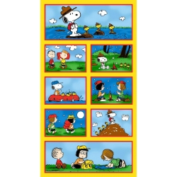 Camp Peanuts Blocks Panel