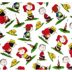 Camp Peanuts Characters on White