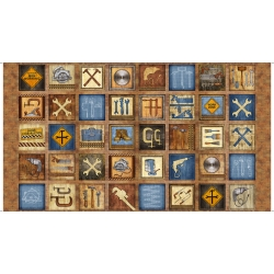 Craftsman Small Blocks Panel Brown