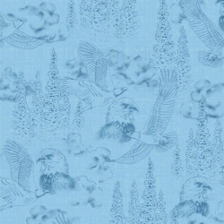 Majestic Eagles Toile Blue