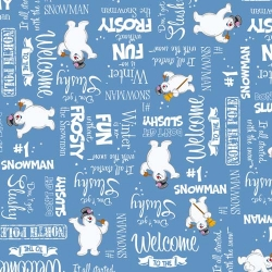Frosty the Snowman Winter Word Toss on Blue