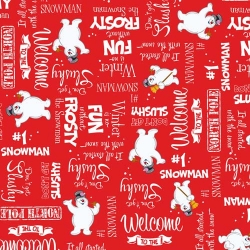 Frosty the Snowman Winter Word Toss on Red