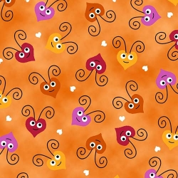 Love Bugs Heart Faces Orange