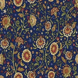 For Love of Country Floral Vine Navy