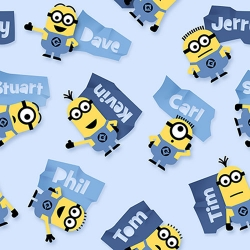 Minions & Names Toss Blue