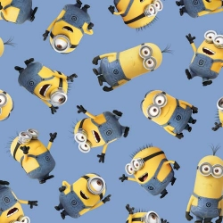 Minions Tossed on Blue