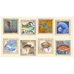 Ocean Oasis Large Blocks Panel
