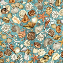 Ocean Oasis Shells Turquoise