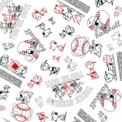 Peanuts All Stars Line Drawings Black & Red