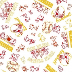 Peanuts All Stars Line Drawings Red & Yellow