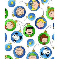 Peanuts Christmas Character Ornaments White
