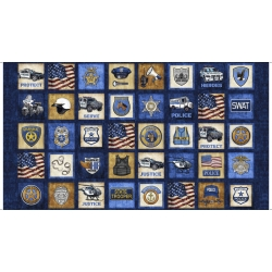 Protect and Serve Blocks Panel Navy