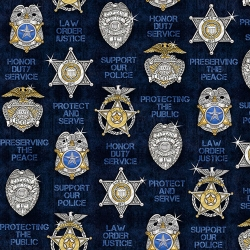 Protect and Serve Shields Navy