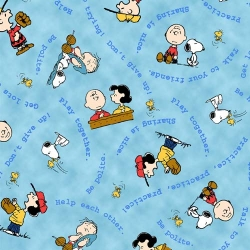 Peanuts Tips from the Gang Characters Blue