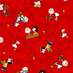 Peanuts Tips from the Gang Characters Red