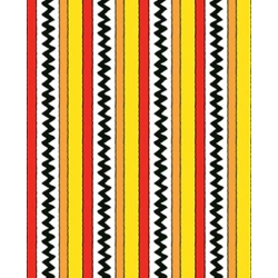 Camp Peanuts Stripe Yellow & Red
