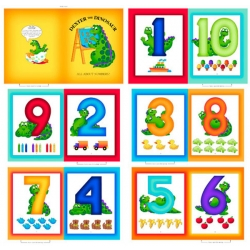 Sew & Go Dexter the Dinosaur Numbers Book Panel