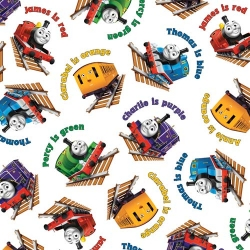 Thomas Color Express Trains  Toss White
