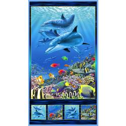 Under the Sea Dolphin Panel