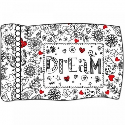 Crayola Dream Coloring Pillowcase Panel