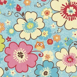 Happy Flappers Floral Blue