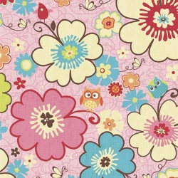 Happy Flappers Floral Pink