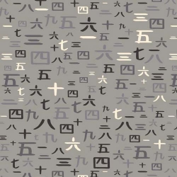 Year of the Chinese Numbers on Gray