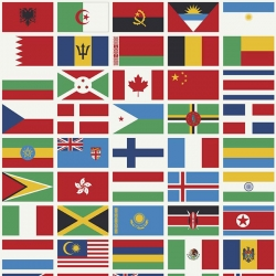 Our World Flags White