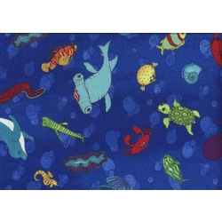 AB Seas Creatures on Dark Blue