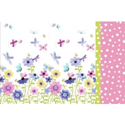 Susybee Flowers Double Border Pillowcase Kit